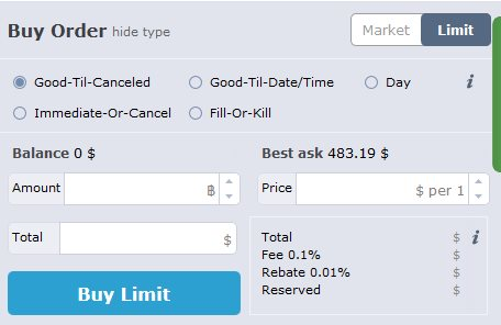 HitBTC Buy Order