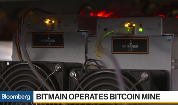 Antminer L3 mining machines at Bitmain's Inner Mongolia mine